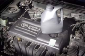 Как заменить масло в Тойота Королла 120